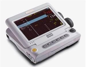 "चीन 10.2"" Folding 90 Degree Multi Parameter Patient Monitor Medical Use फैक्टरी"