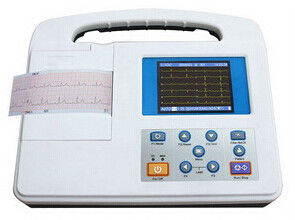 चीन Large LCD Screen 12 Lead Ecg Machine , Rs232 and USB Interface फैक्टरी